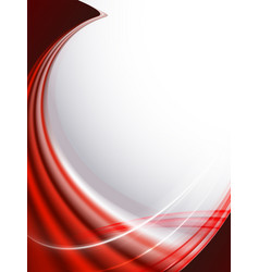 Light red design with flowing lines like fabric vector