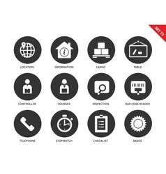 Logistics icons on white background vector image