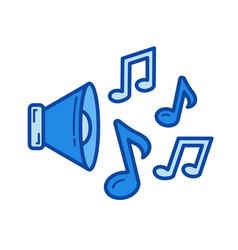 loudspeaker line icon vector image