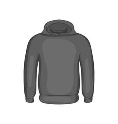 Mens winter sweatshirt icon monochrome style vector