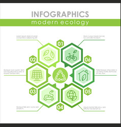 modern ecology infographic template colorful vector image