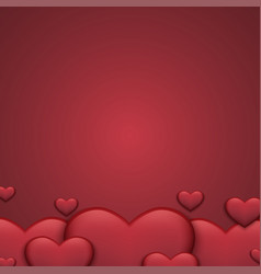 Modern red valentines day background heart vector