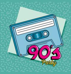 Music cassette nineties art style vector