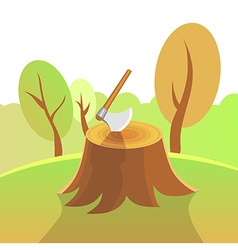 Nature - Forest Harvesting vector image