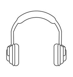 Noise isolating headphones icon vector