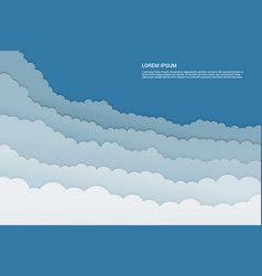 paper cut cloudy template vector image