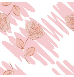 pattern with pencil stroke and a roses vector image