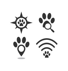 pet locator logo template vector image