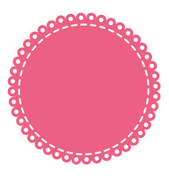 pink circular decorative frame with border rings vector image