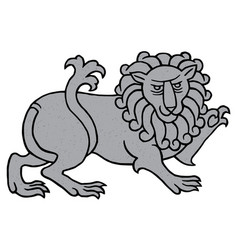 Powerful heraldic lion vector