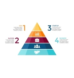 Pyramid up arrows infographic diagram vector