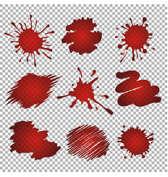Red stains and blots vector