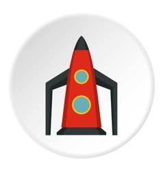 Rocket for space flight icon flat style vector