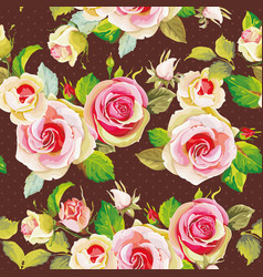 seamless floral pattern with beautifull roses vector image