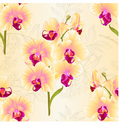 seamless texture branch yellow orchid vector image