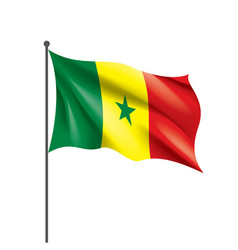 senegal flag on a white vector image