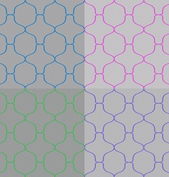 set abstract seamless pattern vector image