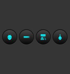 Set alien video game console racing simulator vector