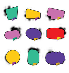 set hand drawn blank template speech bubbles vector image