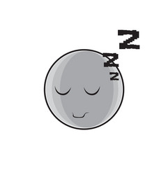 sleeping cartoon face expression people emoticon vector image