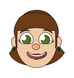 smiling woman face vector image