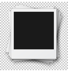 Stack retro photo frames made in realistic vector