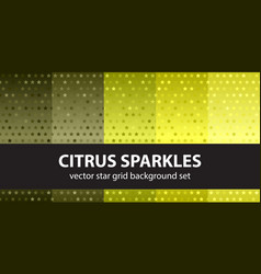 Star pattern set citrus sparkles seamless vector