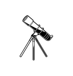 telescope on tripod - observation equipment for vector image