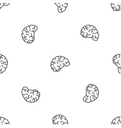 thinking brain pattern seamless vector image