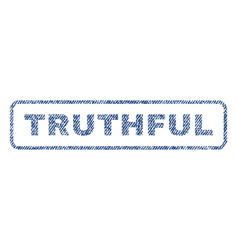 Truthful textile stamp vector