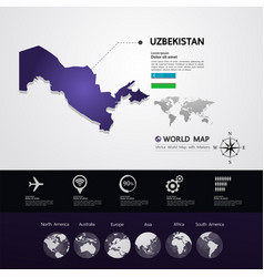 Uzbekistan map illstration vector