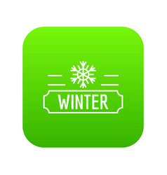 winter icon green vector image