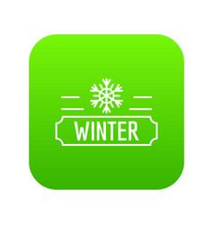winter icon green vector image