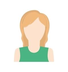 Woman girl female avatar icon graphic vector