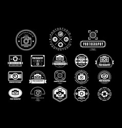collection of photography logo templates photo vector image