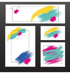 light multicolored blots vector image