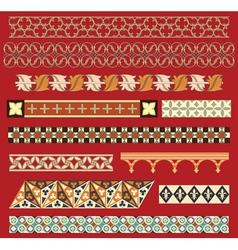 medieval border ornaments vector image