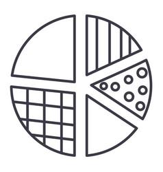 pie diagram line icon sign vector image vector image