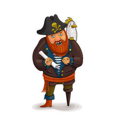 an of a friendly cartoon pirate vector image vector image