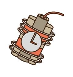 Cartoon dynamite sticks mining clock vector