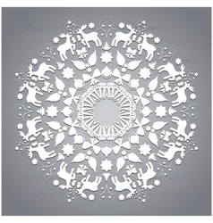 Circle ornament round ornamental geometric pattern vector image vector image