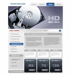 hard disk promotional brochure vector image vector image