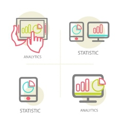 Line of web analytics information vector image