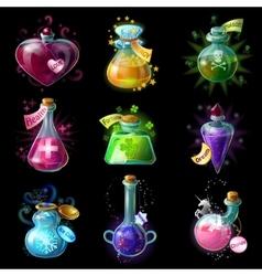 Magic Potions Icon Set vector image