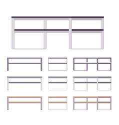 modern table furniture set vector image vector image