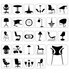 set of modern furniture vector image