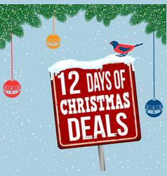 12 days of christmas deals vintage rusty metal vector