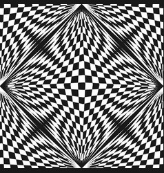abstract checkered pattern chessboard vector image