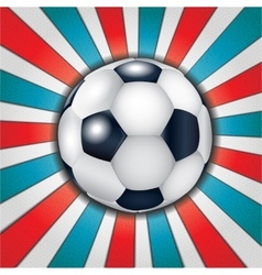 Football ball on abstract background vector image