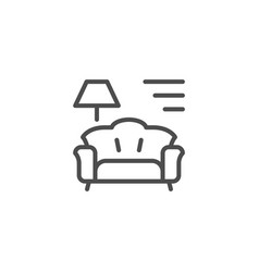 Interior line icon vector